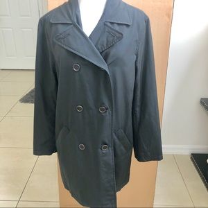 Coach black lined weather resistant trench coat M